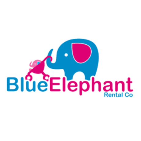 Blue Elephant Rental Co Logo