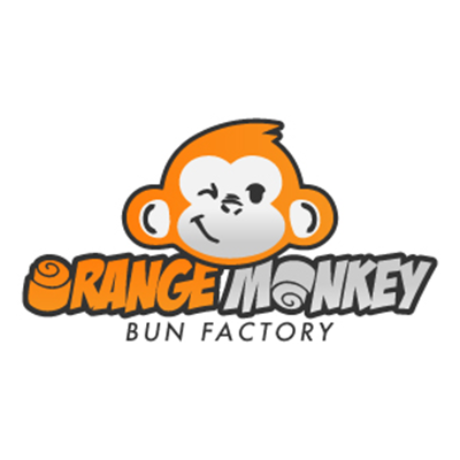 Orange Monkey Bun Factory Logo