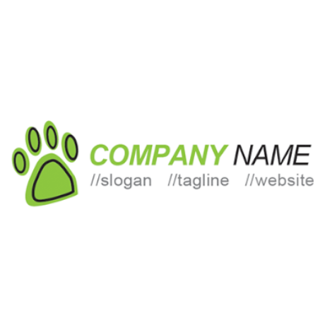 Free Animal Paw Print Logo Template