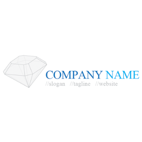 Free Translucent Diamond Logo Template