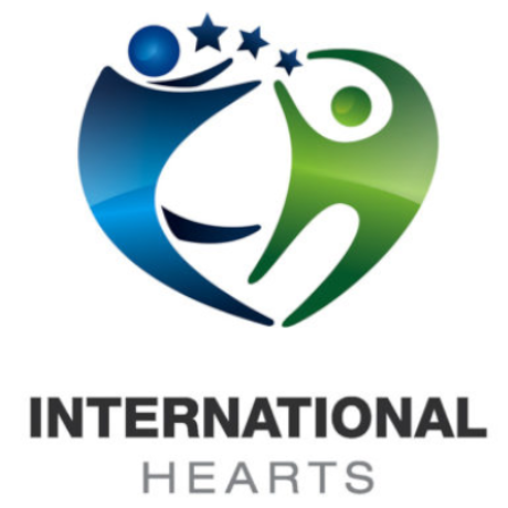 Free International Hearts Logo Template