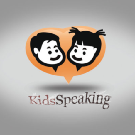 Free Kids Speaking Logo Template