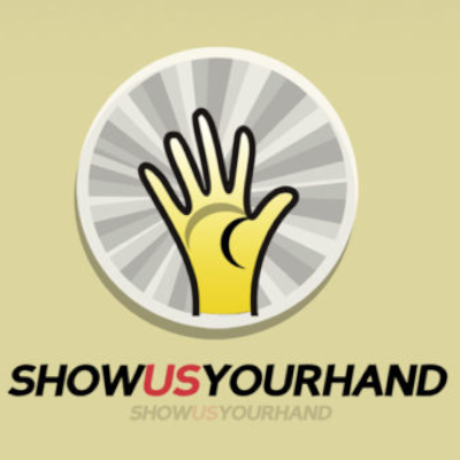 Free Show Us Your Hand Logo Template