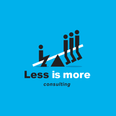 Less Is More Consulting Logo Template