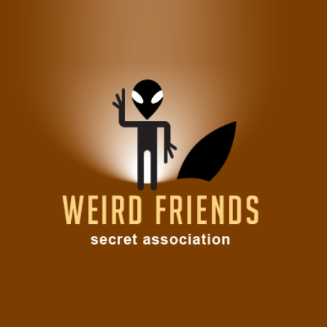 Weird Friends Secret Association Logo Template