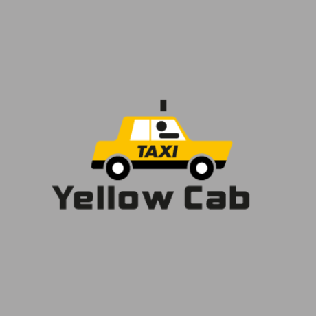 Yellow Cab Taxi Logo Template