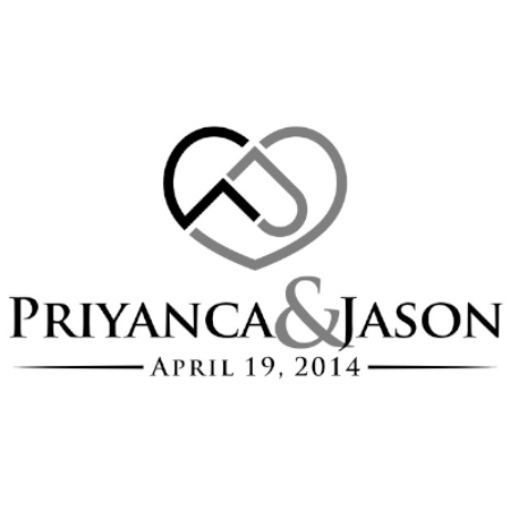 Priyanca & Jason Wedding Logo