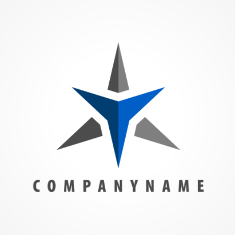Double Star Logo Template