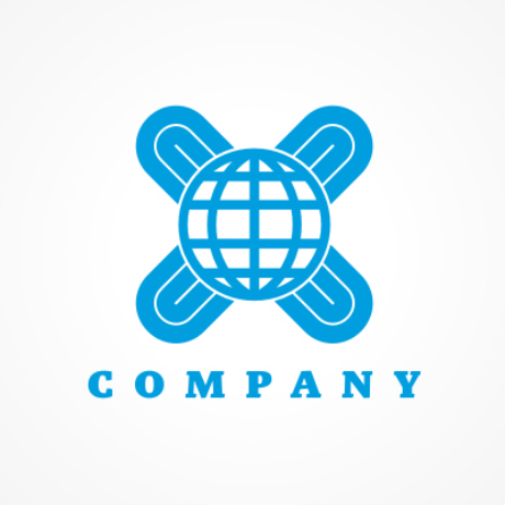 Globe and Cross Logo Template