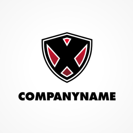 X Shield Logo Template